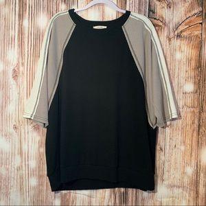 UMGEE + black waffle knit sweater size 2xl